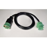 Buy cheap Green Type 2 9 Pin To 9 Pin Serial Cable For Heavy Duty Truck , 1 Year Warranty from wholesalers