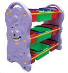 Buy cheap preschool Plastic Toys Shelf children furniture for kids from wholesalers