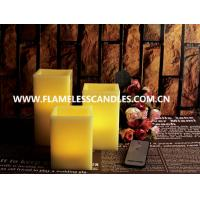 Buy cheap Square Flameless Wax Battery Operated LED Candles with Remote Control Wholesale from wholesalers
