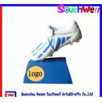 Buy cheap polyresin soccer boot trophy from wholesalers