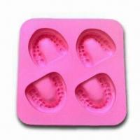 Buy cheap Frozen Smile Silicone Ice Cube Tray, Nontoxic/Non-stick,OEM Orders Available,FDA-/LFGB-approved product