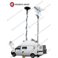 Buy cheap mobile telecommunication antenna tower and telescopic camera mast pole/telescopic cctv camera mast pole from wholesalers