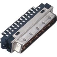 Buy cheap Male 1.27*2.54 Pitch Computer Pin Connectors SCSI 50 Pin Connector With Welded Steel Custom from wholesalers