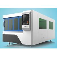Buy cheap 1500W Fiber Laser Cutting Machine Single Table With Protection Cover from wholesalers