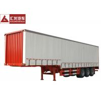 Buy cheap Flatbed Baseplate Curtain Side Trailer 6 Channels Braking High Fixity from wholesalers