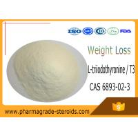 Buy cheap CAS 6893-02-3 Pharmaceutical Raw Materials L-triiodothyronine / T3 for Weight Loss from wholesalers