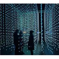 Buy cheap 5m 25 dmx ball strings led point light pixel 3d globe curtain lights programmable decoration from wholesalers