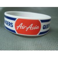Buy cheap Trade Show Promotional Items Giveaways Embossed Silicone Wristband Bracelet from wholesalers