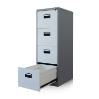 Buy cheap 4 Drawer Dark Grey Frame Lockable Vertical Filing Cabinets from wholesalers