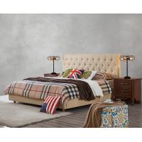 Buy cheap Upholstered Headboard Bed by Modern design Fabric with Contemporary Furniture Apartment Bedroom used from wholesalers