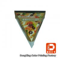 Glossy Varnishing Food Grade Pizza Packaging Boxes Triangle Single Slice Pizza Box