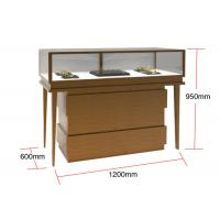 Buy cheap Veneer MDF Glass Display Cabinets , Jewelry Watches Retail Shop Display product