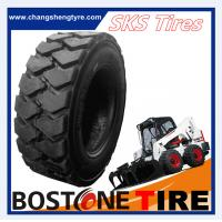Buy cheap High performance industrial skid steer tires 10-16.5nhs tyres with deep tread from wholesalers