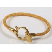 Buy cheap 18k Gold Charm Stainless Steel Bangles / Teddy Bear Charm Bracelet For Women Jewelry from wholesalers