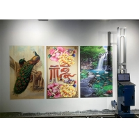 Buy cheap vertical inkjet wall printer 3D wall Printing machine glass wall Decor Paintings flatbed printer from wholesalers