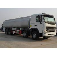Buy cheap SINOTRUK HOWO-A7 8x4 Horsepower 371Hp Engine Oil Tank Truck , Oil Tanker Trailer 40m³ / H Pump Flow from wholesalers