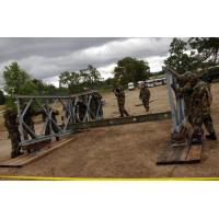 Buy cheap Military Painted Modular Steel Bridges Bailey Truss Bridge With Steel Deck from Wholesalers
