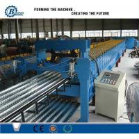 Buy cheap Metal Steel Floor Deck Roll Forming Machine , Corrugated Roofing Sheet Making Machine from wholesalers