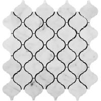 Buy cheap Decorative Geometric Lantern Stone Mosaic Tile Arabesque Baroque Shaped from wholesalers