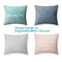Buy cheap Latest design simple solid color pillow home decor cotton cushion cover,Cotton Embroidery Geometric Car Sofa Chair Bed T from wholesalers