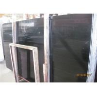 Buy cheap Black Wood Marble Wall Slab , 20mm Marble Stone Tile Vein Cut / Cross Cut product