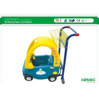 Buy cheap Supermarket Kids Shopping Trolley Plastic With Caster And Small Basket from wholesalers
