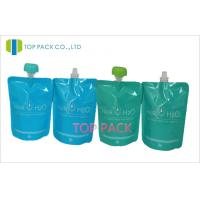 Buy cheap Seal Proof Stand Up Resealable Pouches Body Scrub Use Blue / Green from wholesalers