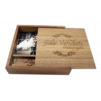 Buy cheap Natural Wood 4 * 6 Inches Wooden Photo Boxes For Photographers Square Shape from wholesalers