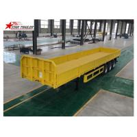 Buy cheap 3/4 Axles Drop Deck Semi Trailer , Heavy Duty Semi Trailers For Truck from wholesalers
