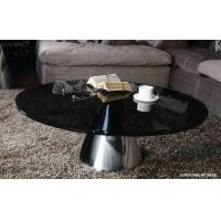 Black Glass Side Table: Black Glass Metal Coffee Tables, Round Tempered Glass End