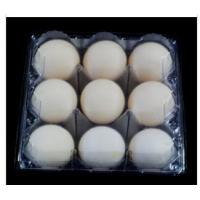 Buy cheap 9 Cavities Disposable Egg Cartons , PVCclear Egg Tray 41mm Hole For Supermarket from wholesalers