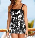 Buy cheap Black white art printing women Tankinis swimwear made in China from wholesalers