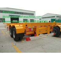 Buy cheap 40 Feet Container Carrying flatbed Semi Trailer Trucks With JOST Landing Leg from wholesalers