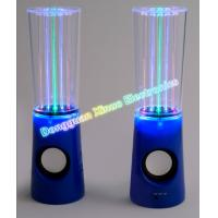China Portable Small Water Fountain Speakers with Colorful LED Light Round Music Player/USB 2.0 Chargeable on sale