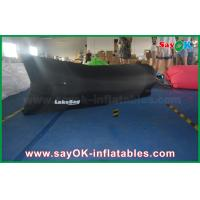 Buy cheap Black Nylon 200x90cm Sleeping Air Bag Lounger With Brand Name Print from wholesalers