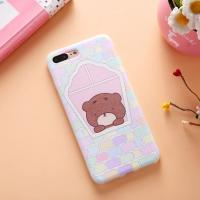 Buy cheap Soft TPU Silk Grain Cartoon Colored Pattern Cell Phone Case Cover For iPhone 7 6s Plus from wholesalers
