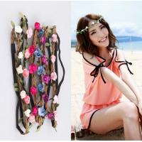 Buy cheap Beach bride bridesmaid flower garland headband headdress holiday pictures accessories from wholesalers