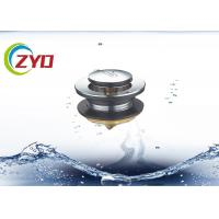 Buy cheap SS Material Pop Up Bathroom Sink Drain, Bathtub Pop Up Drain Without Overflow Hole from wholesalers