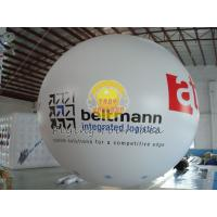 White Dia 4m inflatable advertising helium balloons with 0.20mm PVC Material for Promotion