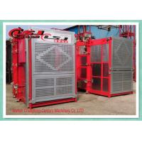 Buy cheap Stable Performance Rack And Pinion Elevator Double Cabin For Man Material Lifting from Wholesalers