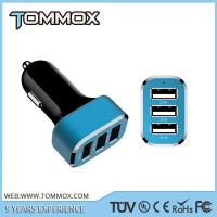 Buy cheap universal 3 port usb car charger,multi port auto charger for mobile phone from wholesalers