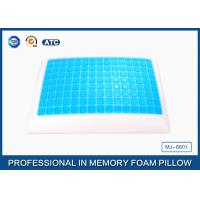 Classic Reversible Memory Foam Cooling Gel Pillow With Blue Gel Bead , Ventilated