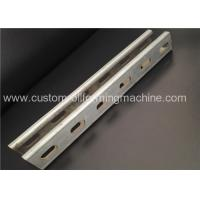 Buy cheap Servo Motor Driving Solar Branket 4mm Custom Roll Forming Machine from wholesalers