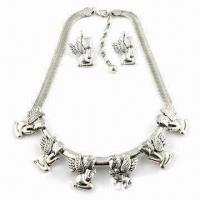 Buy cheap Fashionable Angel-shaped Pendant Necklace, Made of Alloy, Available in Various Designs from wholesalers