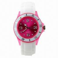 Buy cheap Silicone Band Plastic Case Chinese SL68 Movement Quartz Watch from wholesalers