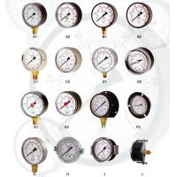 Buy cheap General Manometer Pressure Gauge , Black Plastic Pointer Hydraulic from wholesalers