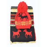 Buy cheap Acrylic Xmas Themed Warm Winter Accessories Scarves Set Custom For Adults from wholesalers