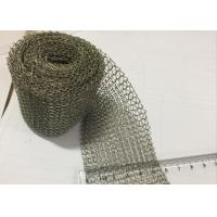 Buy cheap Durable Knitted SS Wire Mesh Grey Metal Color 50-1000m Roll Length For Demister Pad from wholesalers