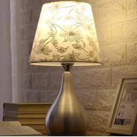 Buy cheap Iron base fabric lampshade soft light many pattern Bedside table lamp LX104 from wholesalers