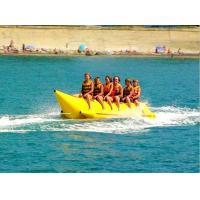 Buy cheap Custom Inflatable Water Toys / Yellow Single Tube Inflatable Banana Boat Towables from wholesalers